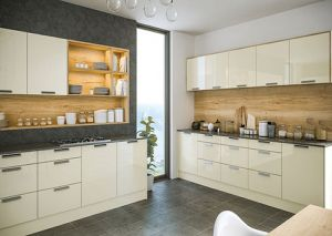 Firbeck Cream Gloss Kitchen