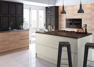 Malton Natural Elm Handleless Kitchen