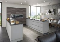 Rothwell Light Grey Matt Handleless Kitchen