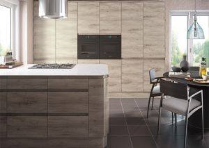 Malton Stone Elm Handleless Kitchen